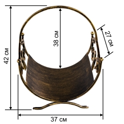 Кованая подставка для дров 2