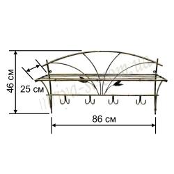 Кованая вешалка в прихожую №3 / комплект