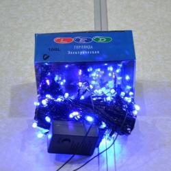 Гирлянда электрическая 100 ЛЕД/ч синяя