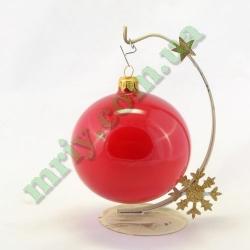 Новогодняя игрушка Шар d100 ГЛ.крас.