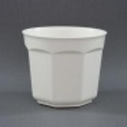 Горшок для цветов Восьмигранный 10 белый