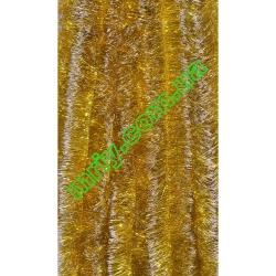 Новогодняя мишура Д10 желтый/б