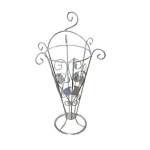 Кованая подставка для зонтов 1 белая