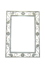 Кованая оправа для зеркала №2 (белая) (1шт.)