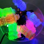 Гирлянда электрическая 20 ЛЕД/фонарик мрамор