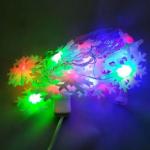 Гирлянда электрическая 20 ЛЕД/снежинка цветная (1шт.)