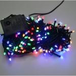 Гирлянда электрическая 100 ЛЕД/конус цветная