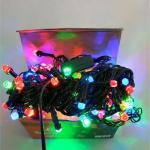 Гирлянда электрическая 100 ЛЕД/рубин цветная