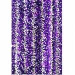 Новогодняя мишура Д5 набивная  фиолет