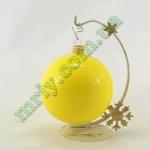 Новогодняя игрушка Шар d100 ГЛ.желт.