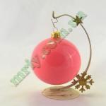 Новогодняя игрушка Шар d100 ГЛ.розов. (1шт.)