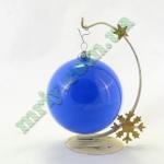 Новогодняя игрушка Шар d100 ГЛ.син.
