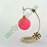 Новогодняя игрушка Шар d60 ГЛ.розов.