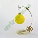 Новогодняя игрушка Шар d60 ГЛ.желт.