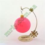 Новогодняя игрушка Шар d80 ГЛ.розов. (1шт.)