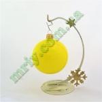 Новогодняя игрушка Шар d80 ГЛ.желт