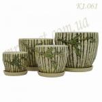 Набор керамических горшков К1.061
