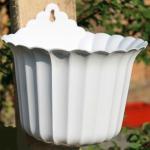 Горшок пластиковый Настенный чешуя 14 белый