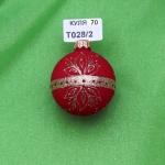 Новогодняя игрушка Т028/02 шар 60