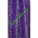Новогодняя мишура Д10 фиолетовый/б