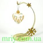 Новогодняя игрушка А 67 сердце маленькое