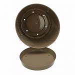 Горшок Ratolla круглый 16.5 коричневый