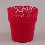 Горшок пластиковый РОССА 13 красный