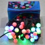 Гирлянда электрическая Шарики 40 ЛЕД/ 4 цвета